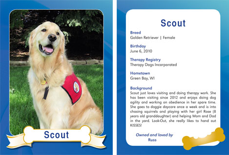 Therapy Dog Trading Card