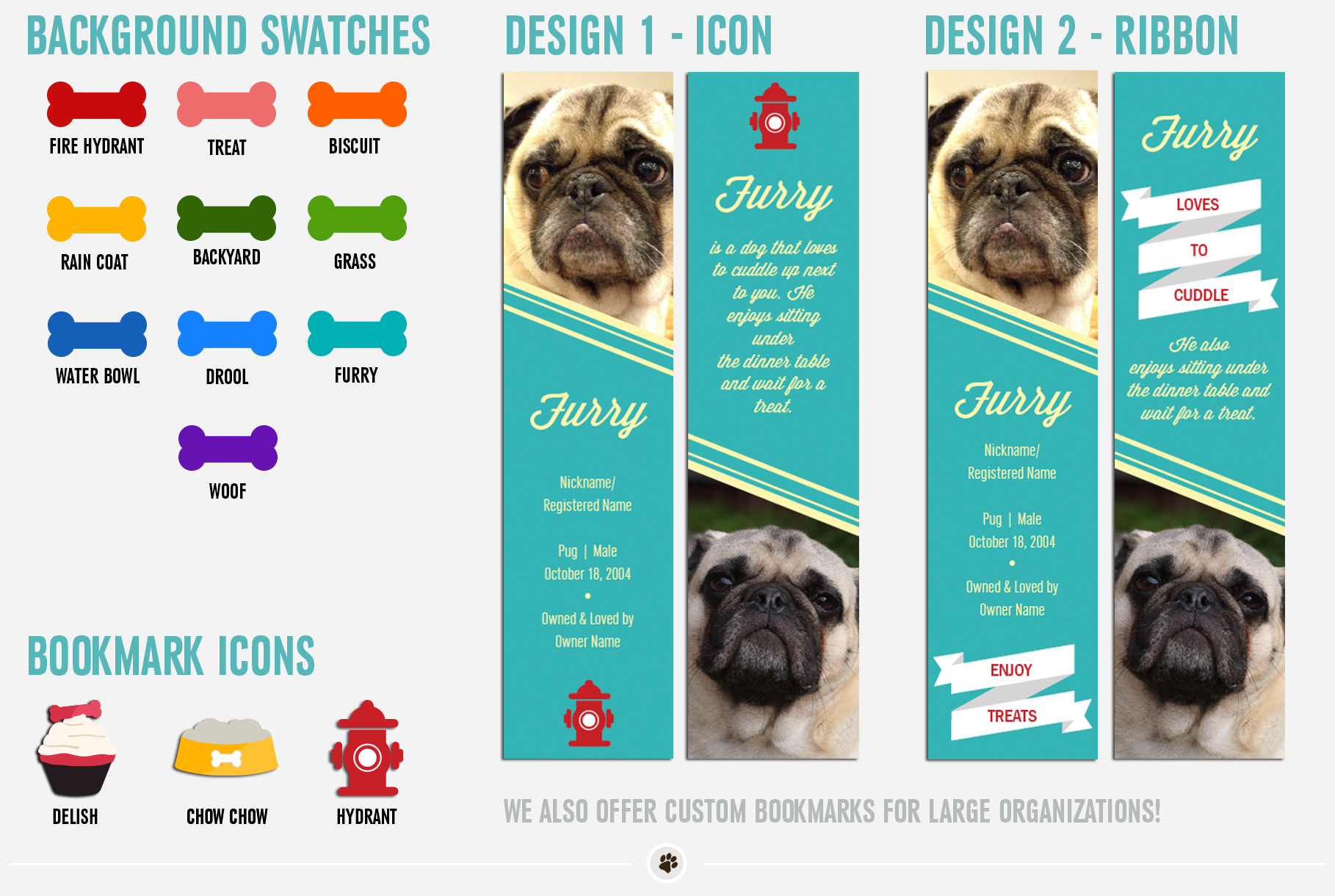 Dog Bookmark Samples