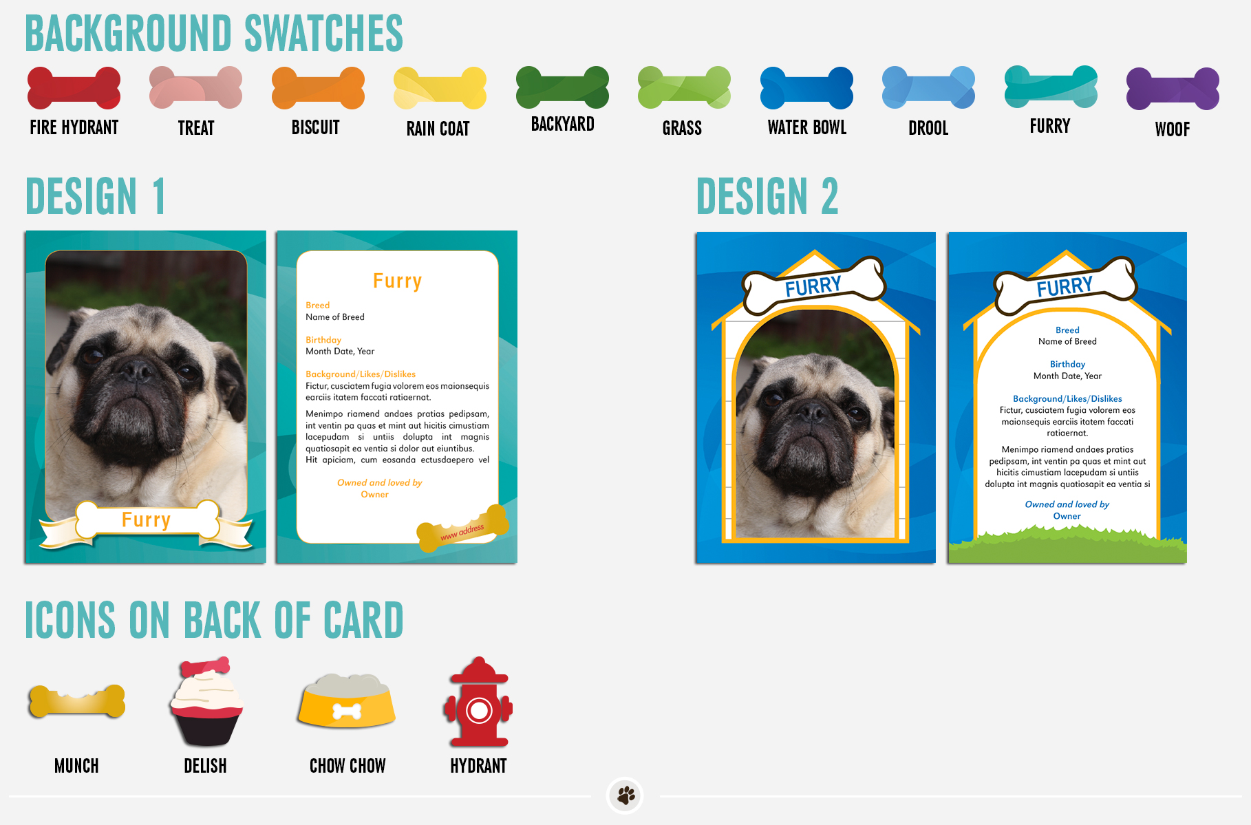 Therapy Dog Trading Card Samples