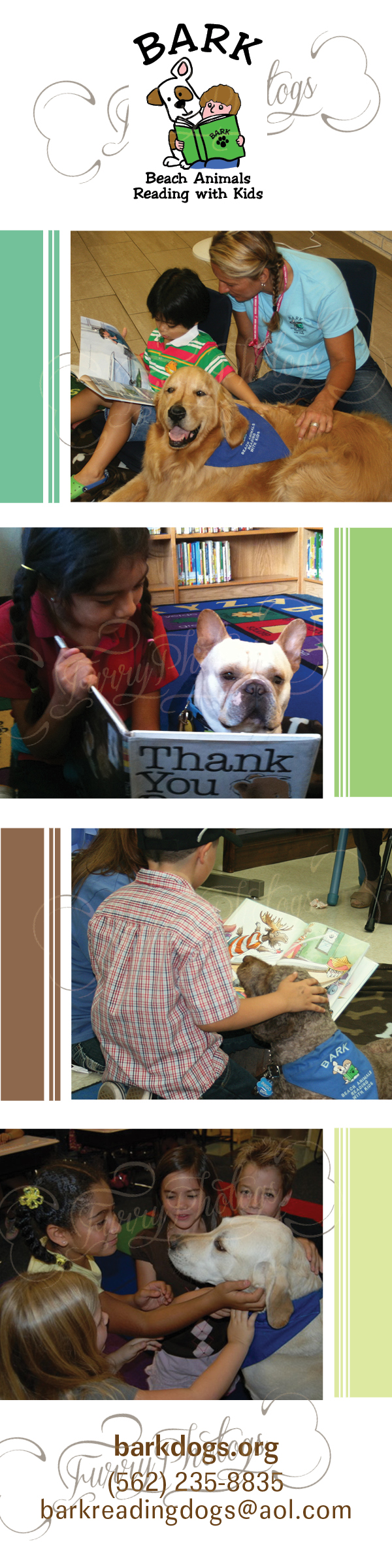 Custom Dog Bookmarks for Organizations