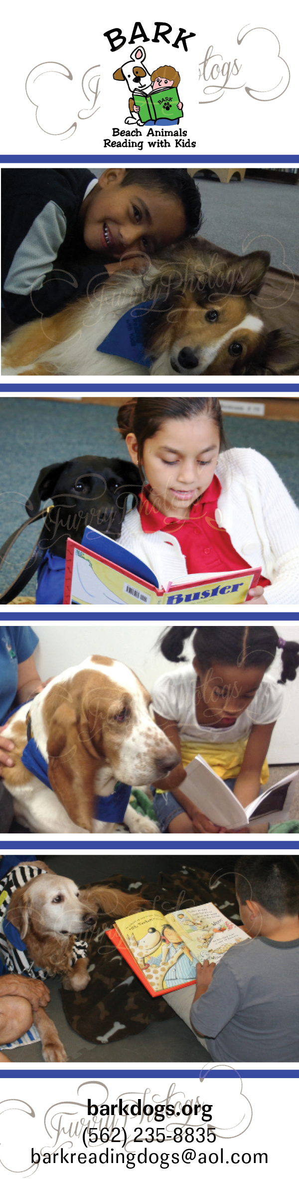 Custom Therapy Dog Bookmarks for Organizations