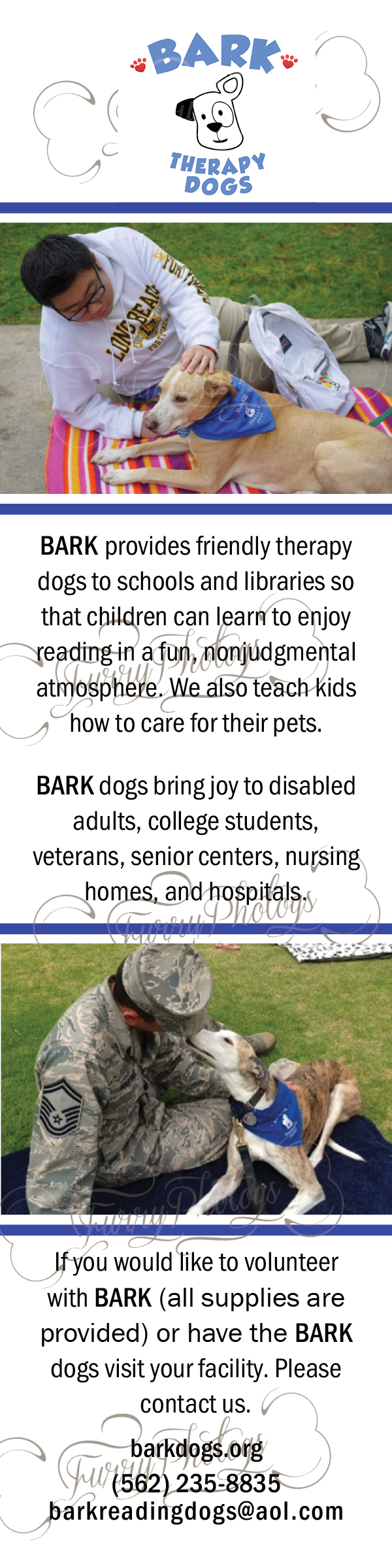 Dog Bookmarks For Therapy Dog Organizations