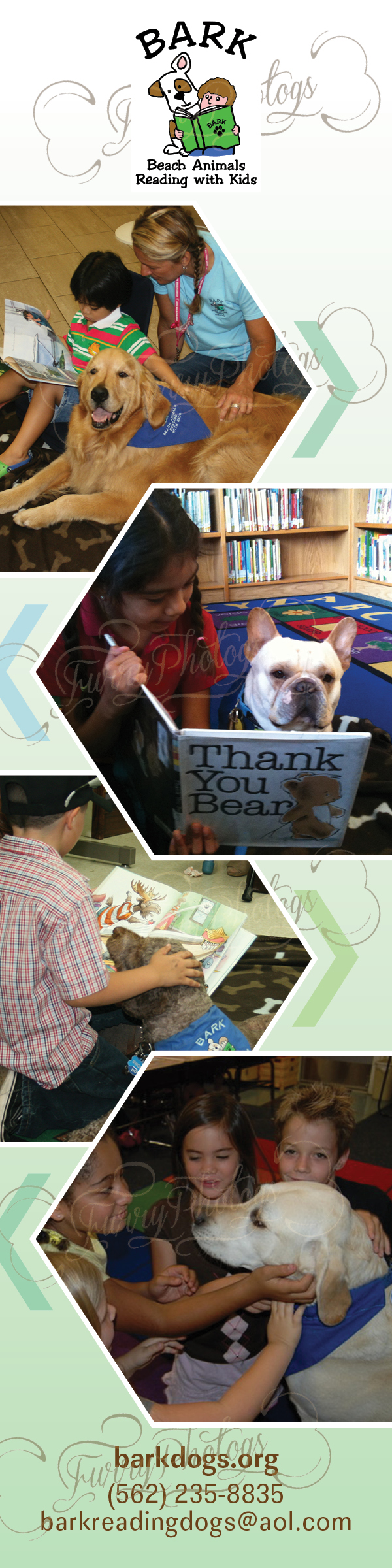 Therapy Dog Bookmarks for Organizations